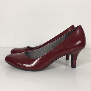 Life Stride Maroon Low Heels